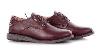 Туфли кожаные на шнурках бордовые