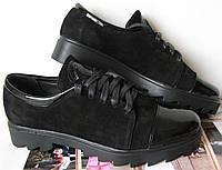 Chanel! Женские стильные туфли Шанель черные осень слипоны кожа замша лак