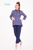 Женская рубашка для беременных, из натурального стрейчевого джинса. Matata (Горошек) размер L