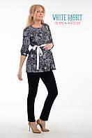Женская блуза, разлетайка для беременных из хлопка гофрэ. White Pepper