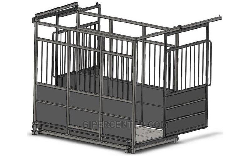 Весы для животных с раздвижными дверьми 6BDU-3000X-Р, НПВ: 3000кг, 2500х3500х1600мм СТАНДАРТ