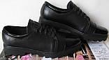 Весна 2020 ! Женские туфли черные весна осень слипоны кожа замша лак, фото 4