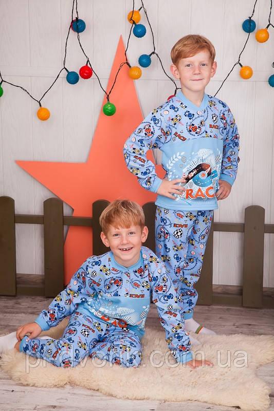 Пижама детская на 2 кнопках  полотно  набивной  начес