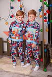 Пижама детская на 2 кнопках  полотно  набивной  начес , фото 2