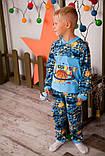 Пижама детская на 2 кнопках  полотно  набивной  начес , фото 3