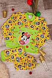 Пижама детская на 2 кнопках  полотно  набивной  начес , фото 5