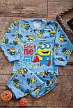 Пижама детская на 2 кнопках  полотно  набивной  начес , фото 9