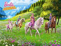 "Пазлы серии ""Barbie"" 126 эл. (полотно 210*300мм), GToys, BA005"