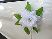 Цветы на ручки Белые (4 шт)