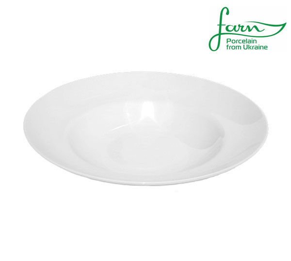 Тарелка фарфоровая глубокая с бортом для пасты Farn Harmonie 300мм
