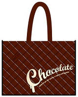 "Эко-сумка 34,5*41,5*12см ""Шоколад (плитка)"", 134128"