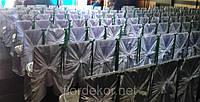 Белый чехол на стул с бантом, прокат текстиля