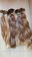 Слов'янські волосся пряме русяве незабарвлені. Дитячі. Темно-русявий