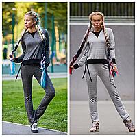 Стильный женский спортивный костюм серый