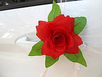 Цветы на ручки Красные (4 шт)