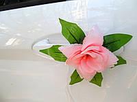 Цветы на ручки Розовые (4 шт)