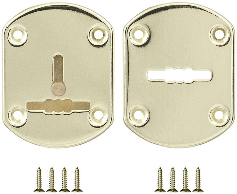 Декоративная накладка под сувальдный ключ Fuaro ESC021 со шторкой, золото (Китай)