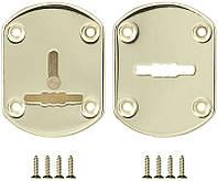 Декоративная накладка под сувальдный ключ Fuaro ESC021 со шторкой, золото (Китай), фото 1
