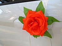 Цветы на ручки Персиковые (4 шт)