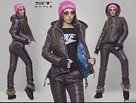Женский лыжный зимний костюм 3 цвета рр 48-54