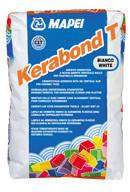 Клей для керамічної плитки Kerabond T. білий ,25 кг. Mapei