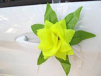 Цветы на ручки Желтые (4 шт)