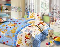 Комплект постельного детского белья бязь - 4642/3 синий Китти