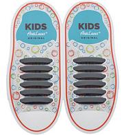 Шнурки силиконовые для обуви AntiLaces Kids Серый 38мм, KGr38