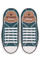 Шнурки силиконовые для обуви AntiLaces Start Белый 56,5мм, SW565