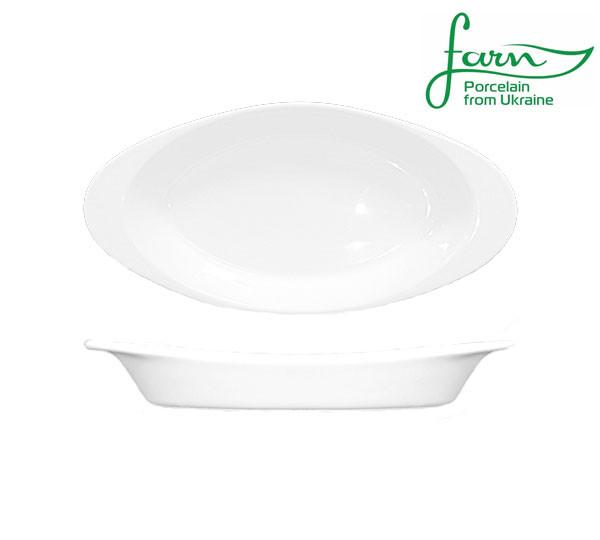 Порцелянова тарілка овальна для лазаньї Farn Harmonie 255мм