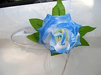 Цветы на ручки Голубые (4 шт)