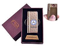"""USB зажигалка в подарочной упаковке с фонариком + фонарик с ультрафиолетом """"Mersedes-Benz"""" (Спираль накаливани"""