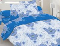 Семейный комплект постельного белья бязь -20-1001 blue