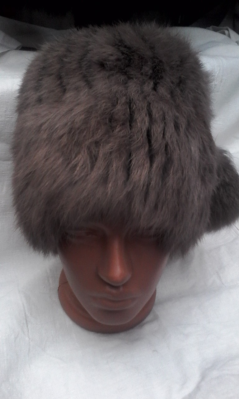 Пушыстая меховая шапка для женщин