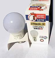 Лампа SMD LED A60 HOROZ PREMIER-8 E27 8W (аналог 60Вт) теплый свет ☀ 3000К