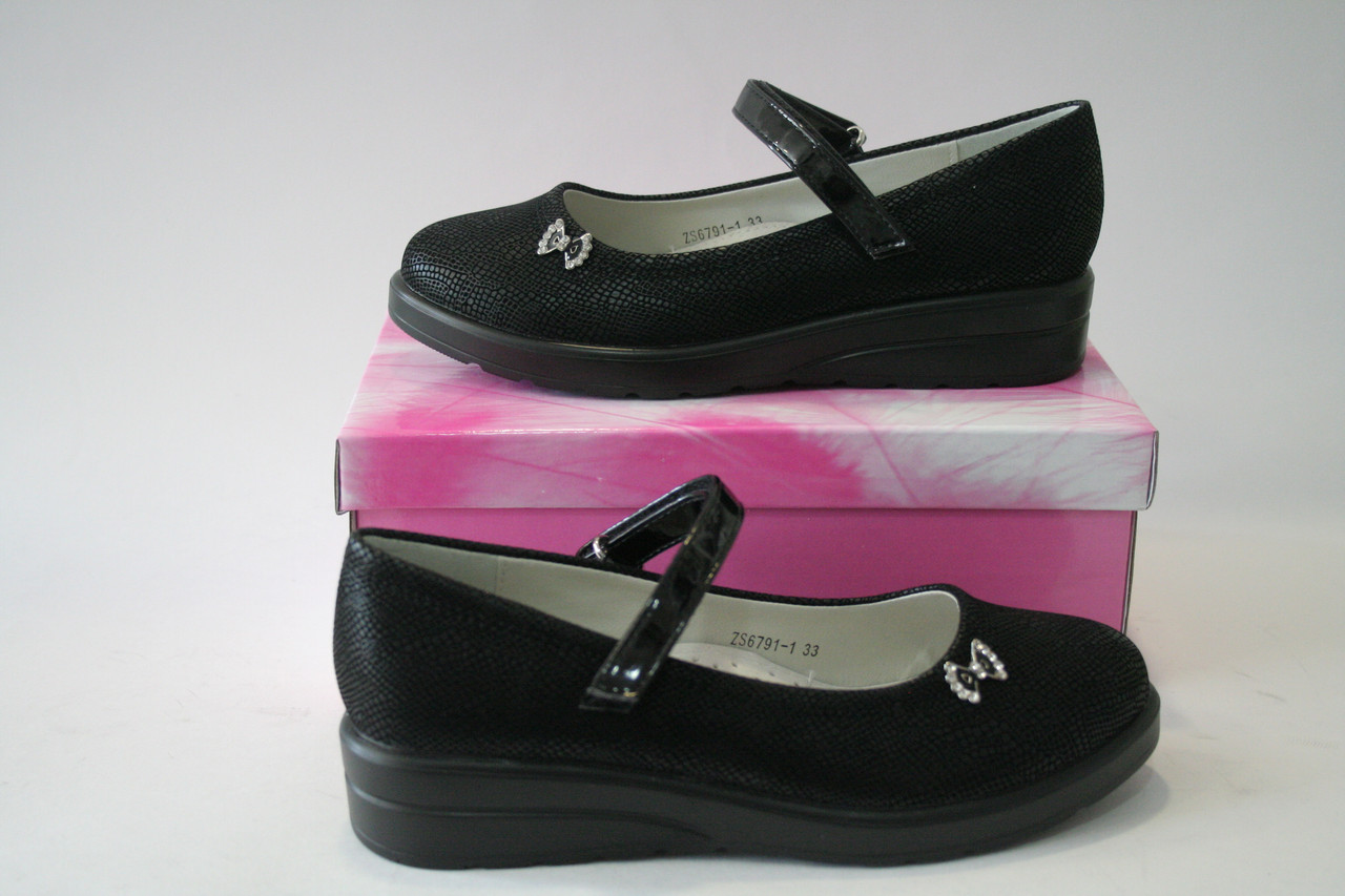 Підліткові туфлі для дівчинки чорні