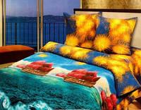 Комплект постельного белья двуспальный бязь  - 9611/1 Алые Паруса