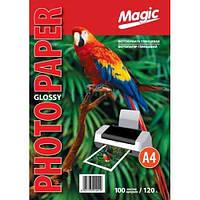 """Фотобумага """"Magic"""" глянцевая, А4, плотность 120 гр/м2, 100 листов"""