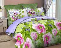 Комплект постельного белья двуспальный бязь  - 4015/3 Пионовый аромат