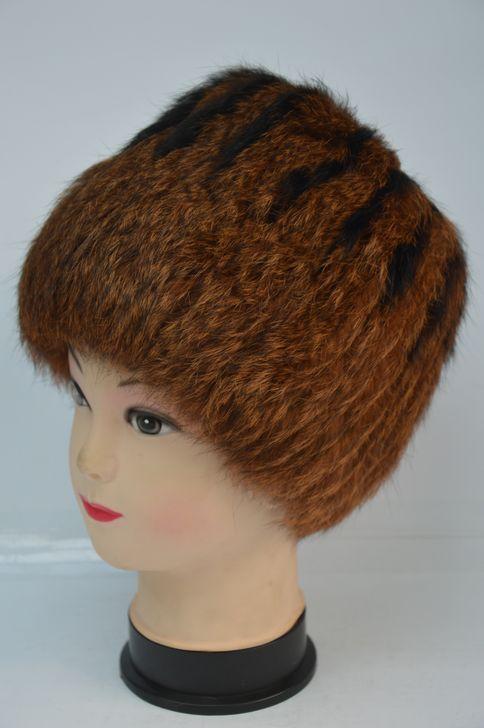 Яркая меховая шапка для женщин хит продаж