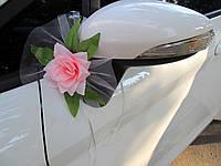 Цветы на зеркала Розовые (2 шт)