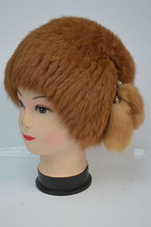 Модная меховая шапка для женщин новинка сезона