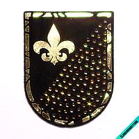 Термонашивка, наклейка на одежду Французская лилия [30 шт. на листе]