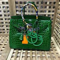 Кожаная брендовая сумка 35 см Luxe копия Лак