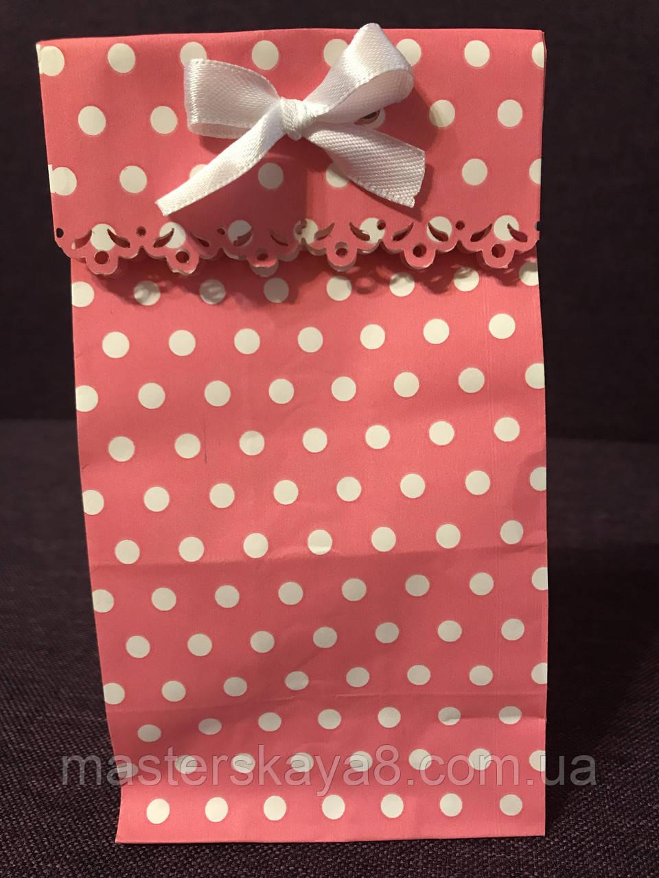 Пакеты бумажные подарочные резные 20*9*6,5 см розовые в ...