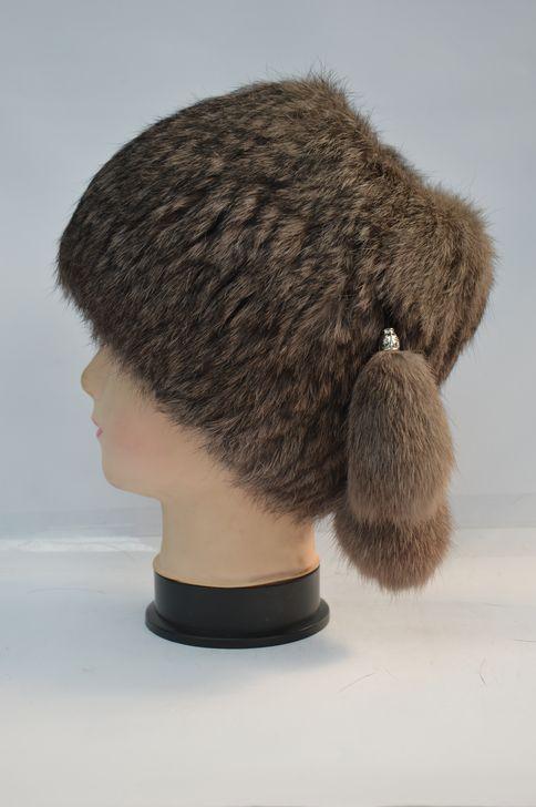 Мягкая женская меховая шапка от производителя