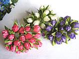 Тюльпаны из ткани малиновые  2 см - 20 шт, 28 грн, фото 2