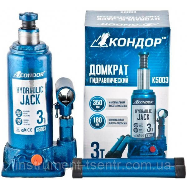 Домкрат бутылочный CONDOR K5003 3т 180-350 мм