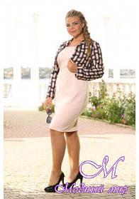 Женское батальное платье с пиджаком (р. 48-90) арт. Лера