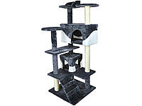 Когтеточка домик для кота 130см PETHAUS 201 Чёрный, фото 1